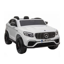 Электромобиль Mercedes-Benz AMG GLC63 2.0 Coupe 4X4 белый (колеса резина, кресло кожа, пульт, музыка)